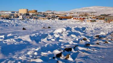 The town of Iqaluit in Nunavit, northern Canada