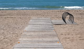 Castelldefels beach, near Barcelona, practically empty despite the sunny day, in Barcelona on 29th April 2020.(Photo by Joan Valls/Urbanandsport/NurPhoto via Getty Images)