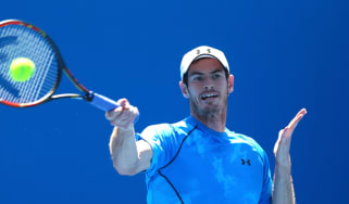Andy Murray of Great Britain in a practice session during day four of the 2015 Australian Open at Melbourne