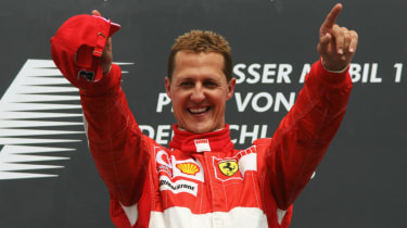 Michael Schumacher won five of his seven Formula 1 world titles with Ferrari