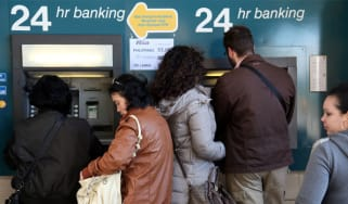 Cyprus bank levy ATM 180313