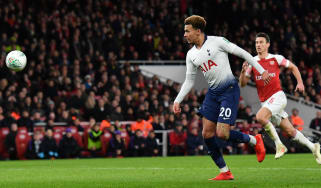 Tottenham midfielder Dele Alli scored a superb goal in the 2-0 win against Arsenal