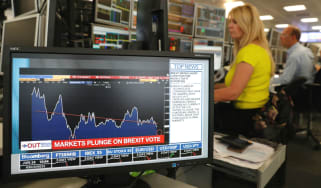 Markets crashed in the hours following the Brexit vote
