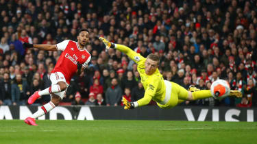 Arsenal captain Pierre-Emerick Aubameyang scored twice in the 3-2 win against Everton on 23 February 2020