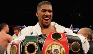 Anthony Joshua beats Joseph Parker boxing Cardiff