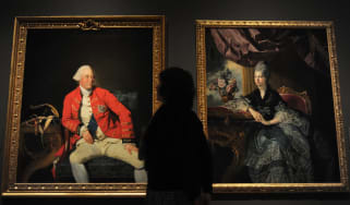 Portraits of George III and Queen Charlotte