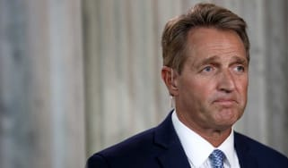 Jeff Flake launched attack on Donald Trump during retirement announcement