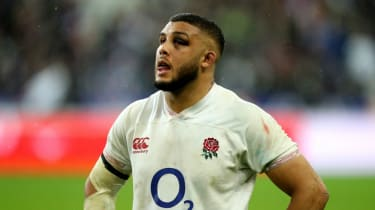 England's Lewis Ludlam looks on during the defeat against France in Paris