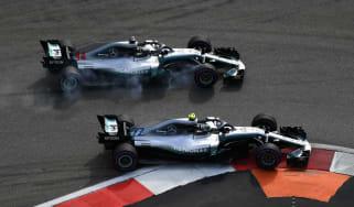 Valtteri Bottas Lewis Hamilton F1 Russian GP