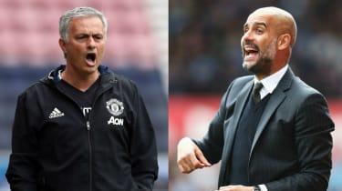 Manchester City vs Manchester United derby Premier League