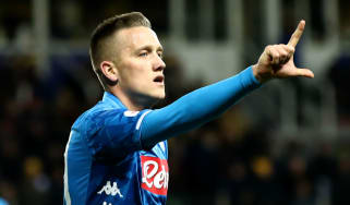 Napoli midfielder Piotr Zielinski has won 39 international caps for Poland