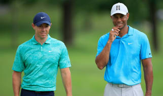 Rory McIlroy and Tiger Woods at The Memorial Tournament in 2020 (Andy Lyons/Getty Images)