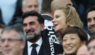 Newcastle's new chairman Yasir Al-Rumayyan and part-owner Amanda Staveley