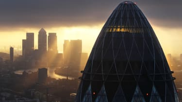 LONDON - FEBRUARY 25: The sun rises over the City of London on February 25, 2010 in London, United Kingdom. As the UK gears up for one of the most hotly contested general elections in recent
