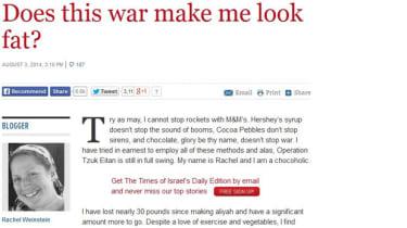 The offending blogger Rachel Weinstein