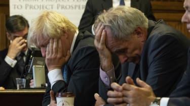 Jacob Rees-Mogg, Boris Johnson and Peter Bone