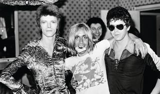 David Bowie, Iggy Pop, Lou Reed. London, 1972, from 'Mick Rock Exposed', all images Mick Rock 2014.