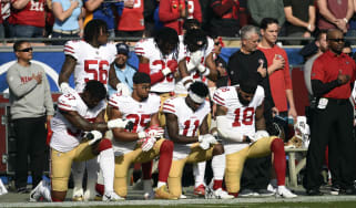 NFL national anthem policy fines reactions