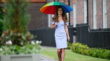 Kate Middleton walking in the grounds of Kensington Palace