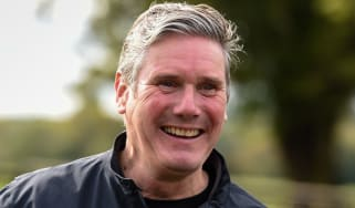 Keir Starmer is shown around Barford Park Farm in Sailsbury.
