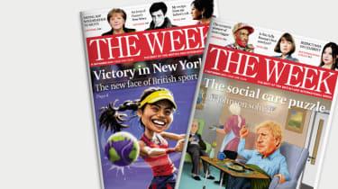 Copies of The Week magazine