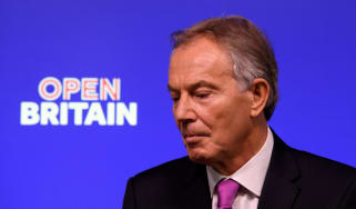 Tony Blair at an event organised by anti-Brexit group Open Britain in February 2017