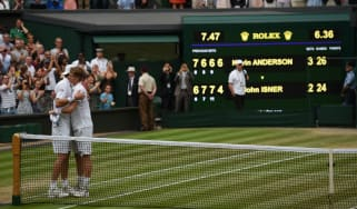 Kevin Anderson beat John Isner in an epic semi-final at the 2018 Wimbledon Championships