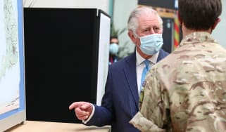 Prince Charles visits NHS and MoD staff involved in the vaccine rollout