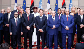 The participants of the International Conference on Libya gather in Paris on Tuesday