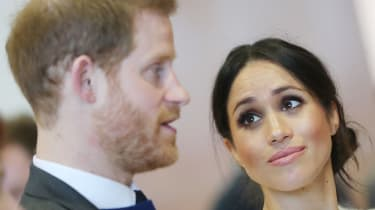 Prince Harry and Meghan Markle during a visit to Northern Ireland in 2019