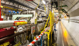 Inside the Large Hadron Collider, a particle accelerator in Meyrin, Switzerland