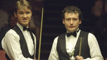 Stephen Hendry and Jimmy White ahead of the 1994 World Snooker Championship final