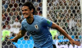 Edinson Cavani Uruguay vs. France World Cup quarter-final