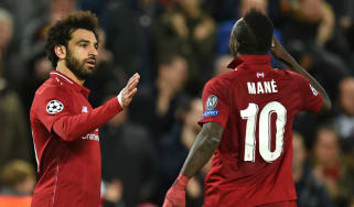 Liverpool forwards Mohamed Salah and Sadio Mane scored in the 4-0 win against Red Star Belgrade
