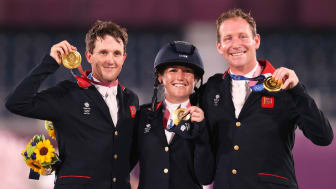 Tom McEwen, Laura Collett and Oliver Townend Team GB eventing