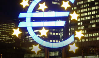 Brexit euro sign.