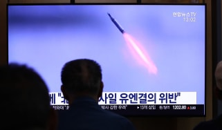 A North Korean missile test in 2019