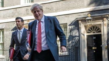 Rishi Sunak and Boris Johnson on Downing Street