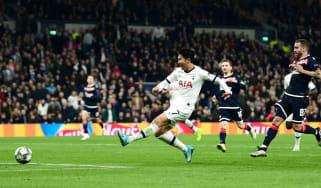 Son Heung-min scored twice in Tottenham's 5-0 win over Red Star Belgrade