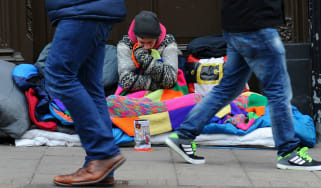 The numbers of UK homeless has rise sharply since 2010