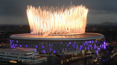 A firework display marked the opening of the new Tottenham Hotspur Stadium