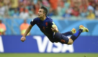 Robin van Persie's flying header for Holland against Spain was one of the best goals at the 2014 Fifa World Cup