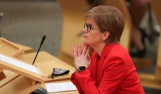 Nicola Sturgeon attends Scottish Parliament in Holyrood