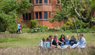 Bedales pupils chatting in the school gardens
