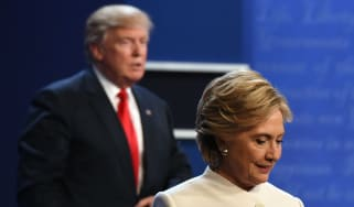 Hillary Clinton and Donald Trump during last year's presidential debate