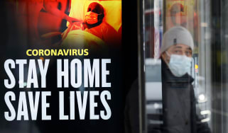 NHS poster saying Stay Home, Save Lives in London