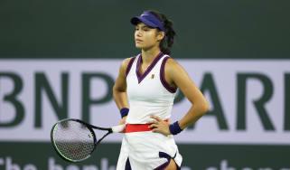 Emma Raducanu was beaten by Aliaksandra Sasnovich at Indian Wells