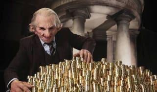 A goblin at the Gringotts Wizarding Bank