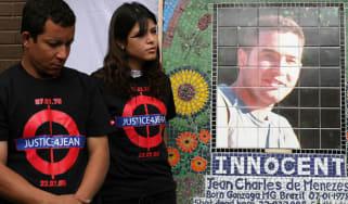 Family members of Jean Charles de Menezes dedicate a memorial plaque