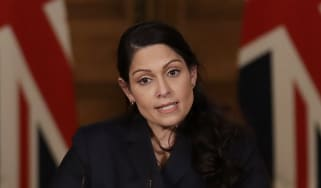 Priti Patel presents the daily Covid press briefing